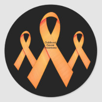 Childhood Cancer Ribbon Round Sticker