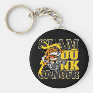 Childhood Cancer - Slam Dunk Cancer Keychain