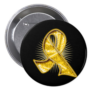 Childhood Cancer Slogan Watermark Ribbon Pins