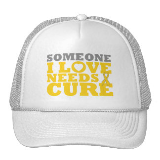 Childhood Cancer Someone I Love Needs A Cure Trucker Hat