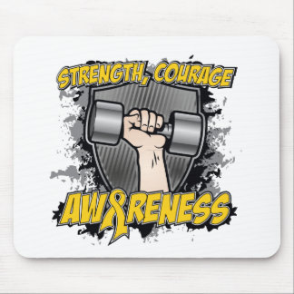Childhood Cancer Strength Courage Men Mousepad