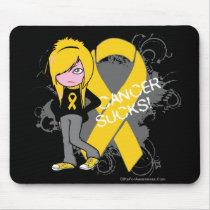 Childhood Cancer Sucks (Girl) Mouse Pad