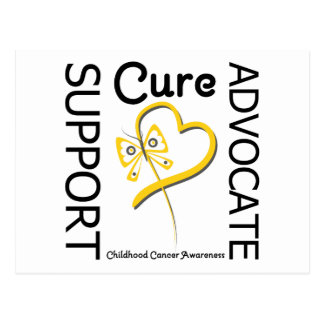 Childhood Cancer Support Advocate Cure Postcard