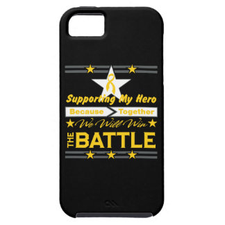 Childhood Cancer Supporting My Hero iPhone 5 Cover