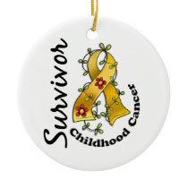 Childhood Cancer Survivor 15 Ceramic Ornament
