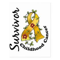 Childhood Cancer Survivor 15 Postcard