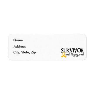 Childhood Cancer Survivor 18 Label