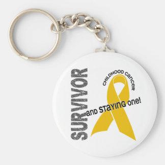 CHILDHOOD CANCER Survivor 1 Key Chain