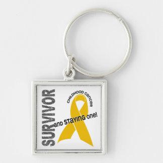 CHILDHOOD CANCER Survivor 1 Key Chains