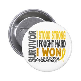 Childhood Cancer Survivor 4 Pinback Buttons
