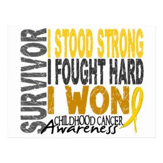 Childhood Cancer Survivor 4 Postcard