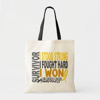Childhood Cancer Survivor 4 Tote Bag