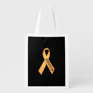 Childhood Cancer Survivor Bag Reusable Grocery Bags