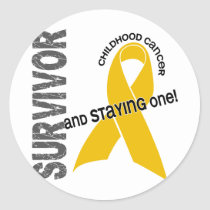 Childhood Cancer Survivor Classic Round Sticker