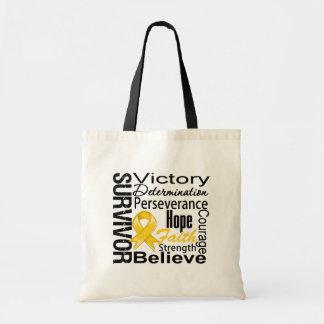 Childhood Cancer Survivor Collage Budget Tote Bag