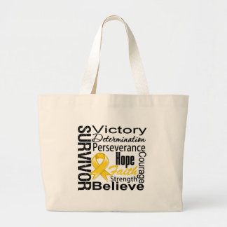 Childhood Cancer Survivor Collage Jumbo Tote Bag