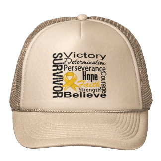 Childhood Cancer Survivor Collage Trucker Hat
