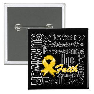 Childhood Cancer Survivor Collage Pinback Button