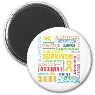 Childhood Cancer Survivor Collage.png Refrigerator Magnet