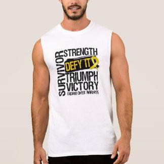 Childhood Cancer Survivor Defy It Sleeveless T-shirt