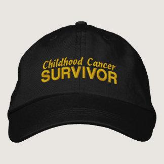 Childhood Cancer Survivor Embroidered Baseball Cap