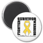 Childhood Cancer Survivor Fighter Warrior Fridge Magnet