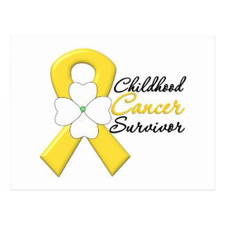 Childhood Cancer Survivor Flower Ribbon Postcard