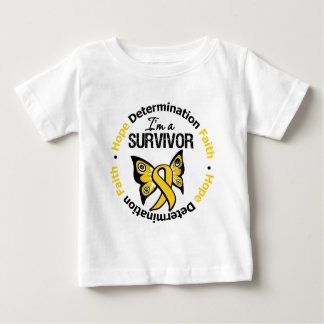 Childhood Cancer Survivor Hope Determination Faith Baby T-Shirt