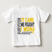 Childhood Cancer Survivor It Came We Fought I Won Baby T-Shirt