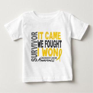 Childhood Cancer Survivor It Came We Fought I Won Baby T-Shirt