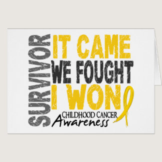 Childhood Cancer Survivor It Came We Fought I Won Card