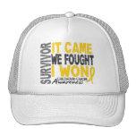 Childhood Cancer Survivor It Came We Fought I Won Trucker Hat