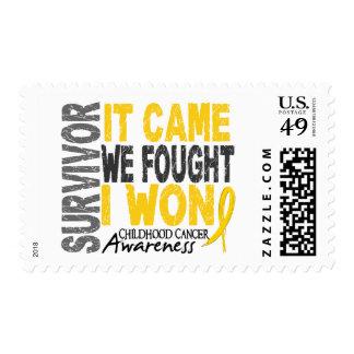 Childhood Cancer Survivor It Came We Fought I Won Postage