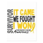 Childhood Cancer Survivor It Came We Fought I Won Postcards