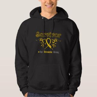 Childhood Cancer Survivor Tribal Ribbon Sweatshirt