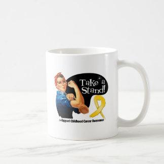 Childhood Cancer Take a Stand Classic White Coffee Mug