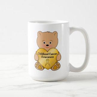 Childhood Cancer Teddy Bear with Heart Coffee Mug