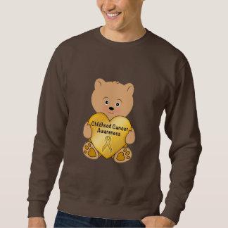 Childhood Cancer Teddy Bear with Heart Sweatshirt