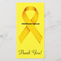 Childhood Cancer Thank You Card