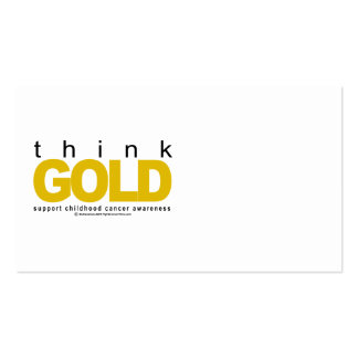 Childhood Cancer Think GOLD Business Card