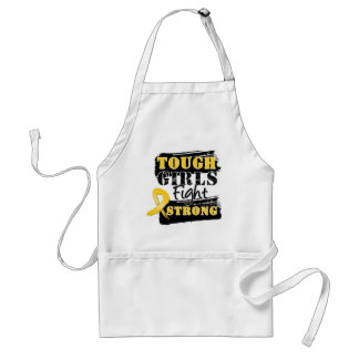 Childhood Cancer Tough Girls Fight Strong Adult Apron