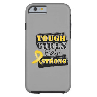 Childhood Cancer Tough Girls Fight Strong Tough iPhone 6 Case
