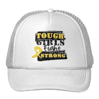 Childhood Cancer Tough Girls Fight Strong Trucker Hat