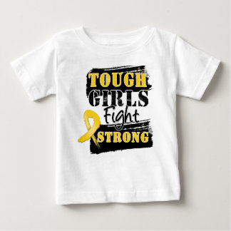 Childhood Cancer Tough Girls Fight Strong Tshirt