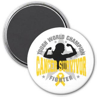 Childhood Cancer Tough Survivor 3 Inch Round Magnet