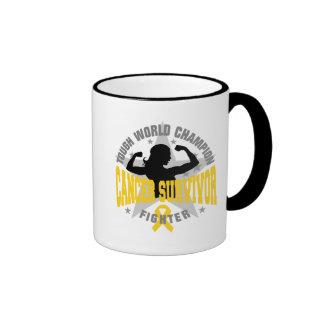 Childhood Cancer Tough Survivor Ringer Coffee Mug
