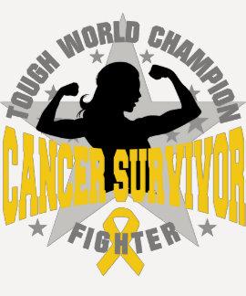 Childhood Cancer Tough Survivor T Shirts