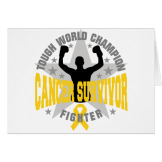 Childhood Cancer Tough World Champion Survivor Greeting Card