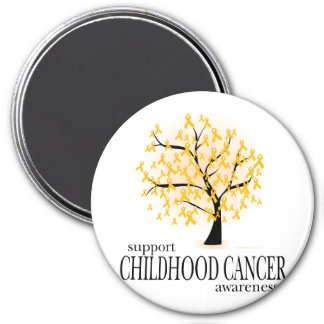 Childhood Cancer Tree 3 Inch Round Magnet