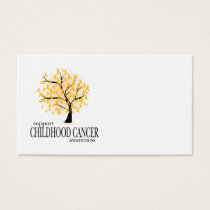 Childhood Cancer Tree Business Card
